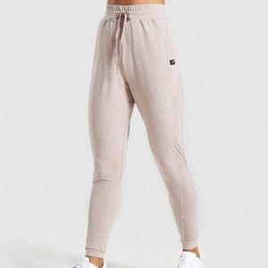 Gymshark Heathered Taupe Pink Joggers